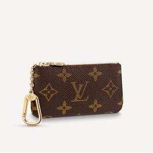 $400 Authentic Louis Vuitton lv monogram key pouch